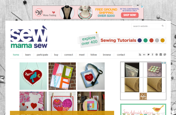 homepage sewmamasew hecha con woocommerce
