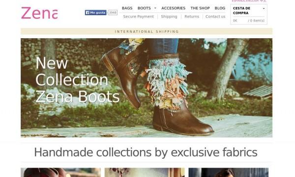 homepage de zenatienda.com