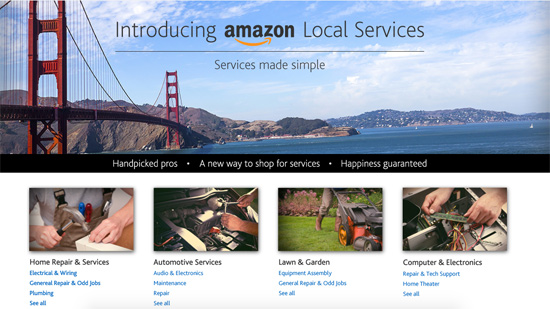 homepage de amazon local services