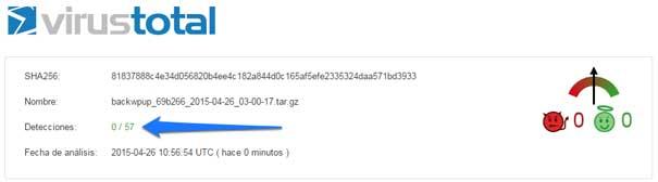 antes de restaurar una copia de seguridad de WordPress debes escanear copia de seguridad contra virus y malware