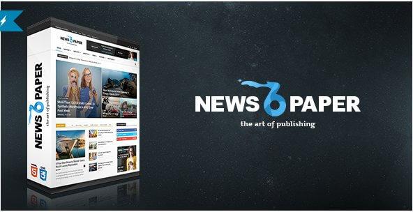 Newspaper: Plantilla de WordPress para Periodico Digital
