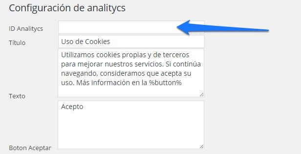 configurar google analytics en WordPress