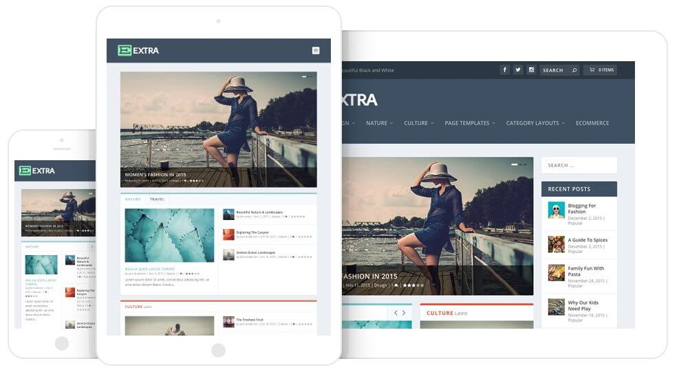 Extra, tema de Elegant Themes para blogs y magazines