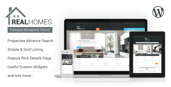 Real Homes, crea una web inmobiliaria con WordPress