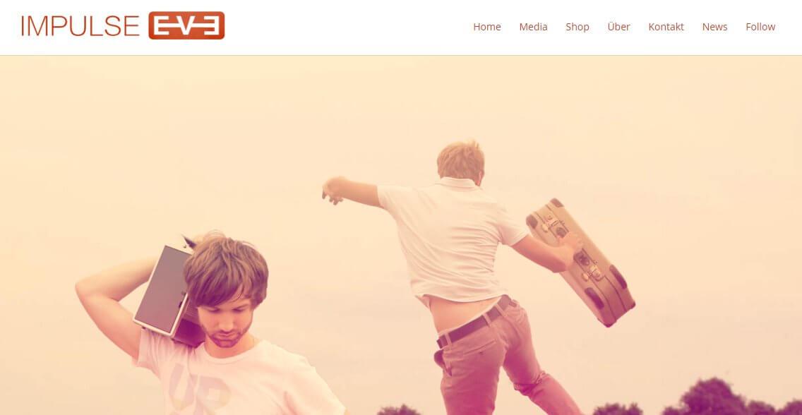 ejemplos de webs hechas con divi - grupo de musica