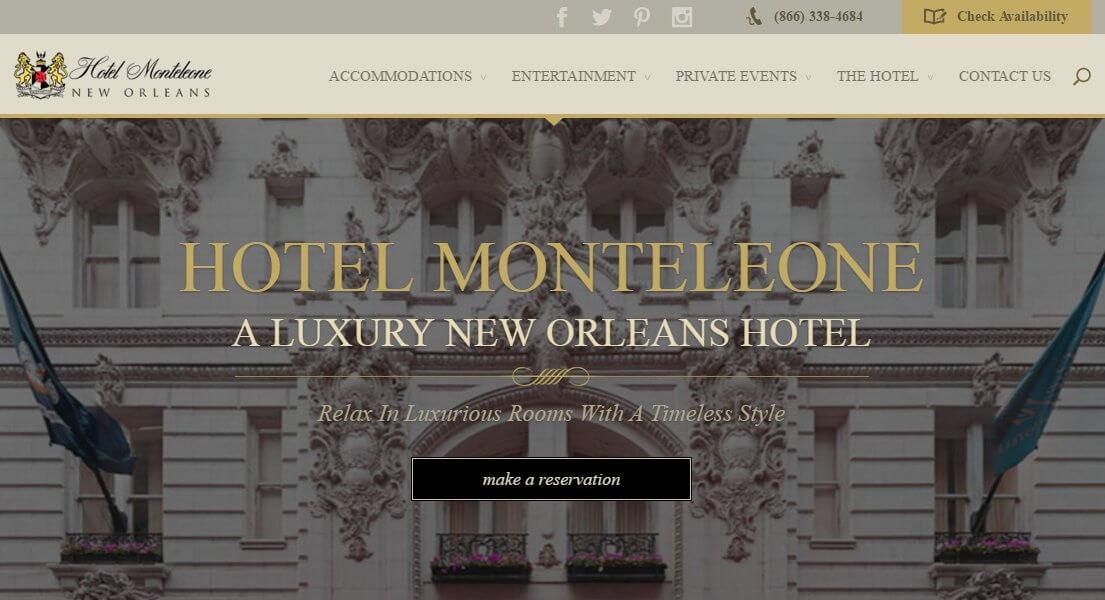 web de hotel hecha con divi tema para wordpress
