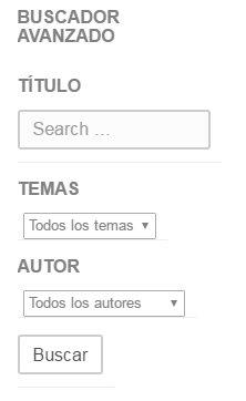 buscador avanzado en un widget