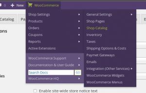 Añade un menu extra de WooCommerce a la barra de administración de WordPress