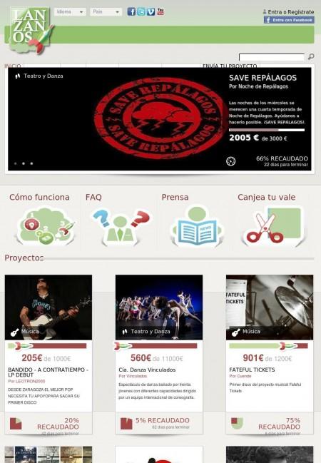 home page de lanzanos.com