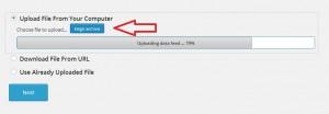 seleccionar el nuevo archivo