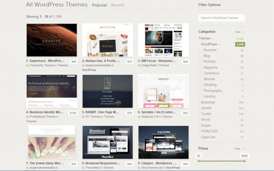 alternativa a ThemeForest