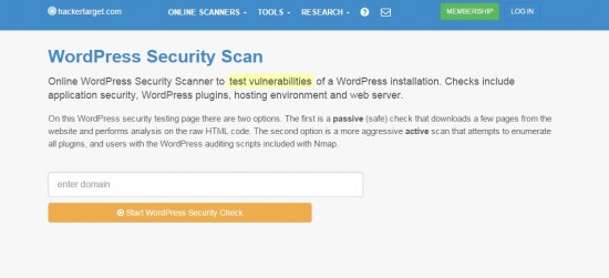 Escaneo de vulnerabilidades de WordPress