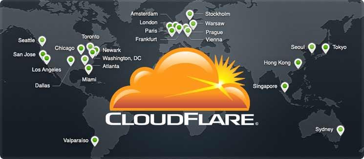 mapa de servidores de Cloudflare una buena herramienta de seguridad en WordPress
