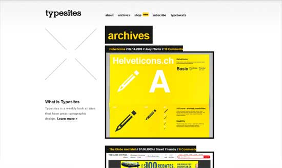sitios con buen uso de la tipografia typesites