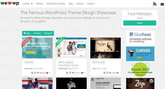 ejemplos de webs hechas con WordPress - welovewp