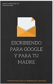 portada del libro escribiendo para google