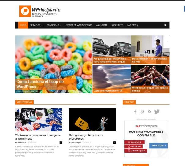 ejemplos de plantillas de WordPress para periodicos digitales
