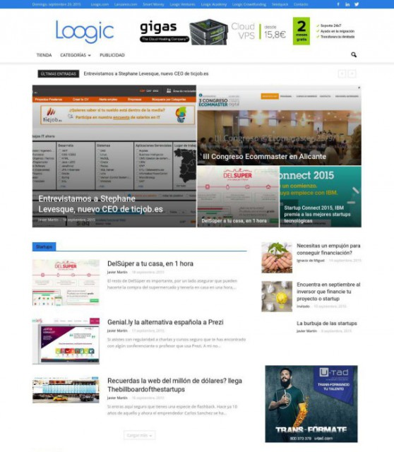 ejemplos de webs de periodicos digitales