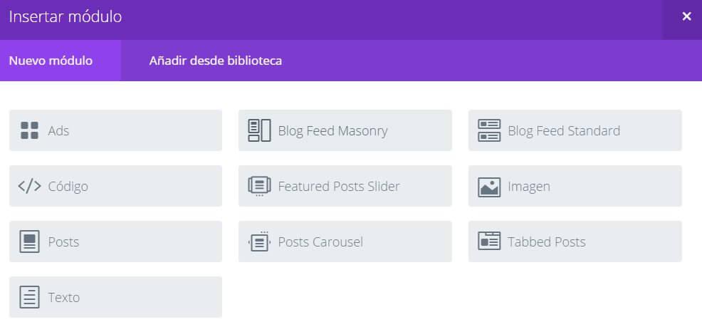 extra - modulos para maquetar las diferentes categorias del blog