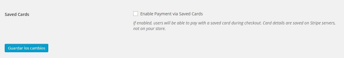 guardar tarjetas de crédito